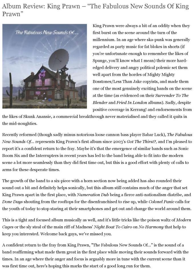 "Album Review: King Prawn – ""The Fabulous New Sounds Of King Prawn"" | PureRawk.com (Reader version)_000001"