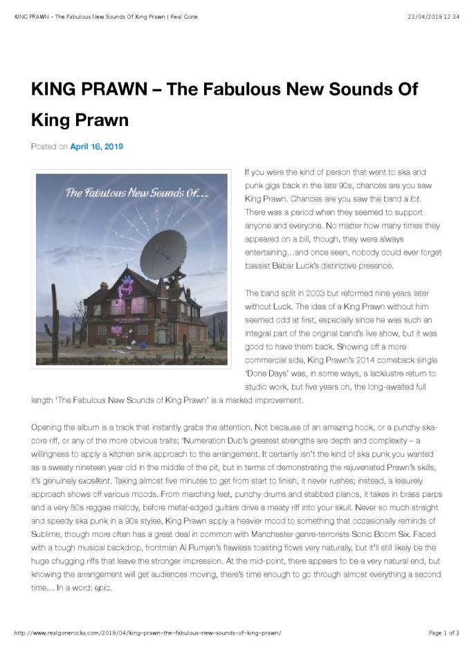 KING PRAWN – The Fabulous New Sounds Of King Prawn | Real Gone_000001