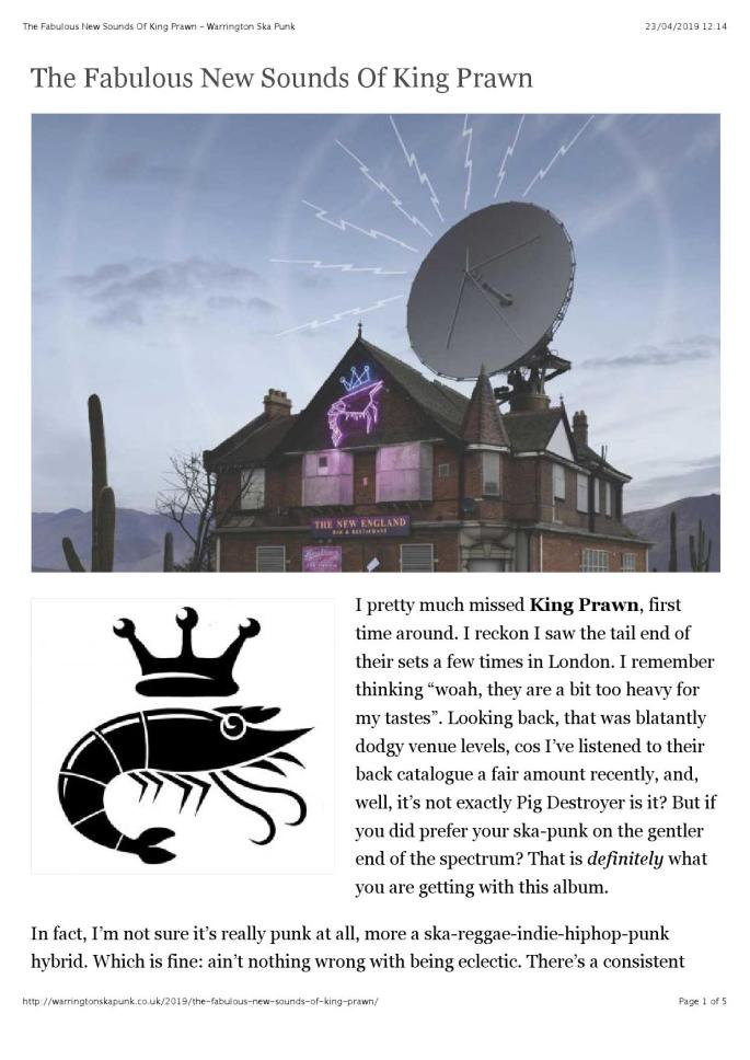 The Fabulous New Sounds Of King Prawn – Warrington Ska Punk (reader view)_000001