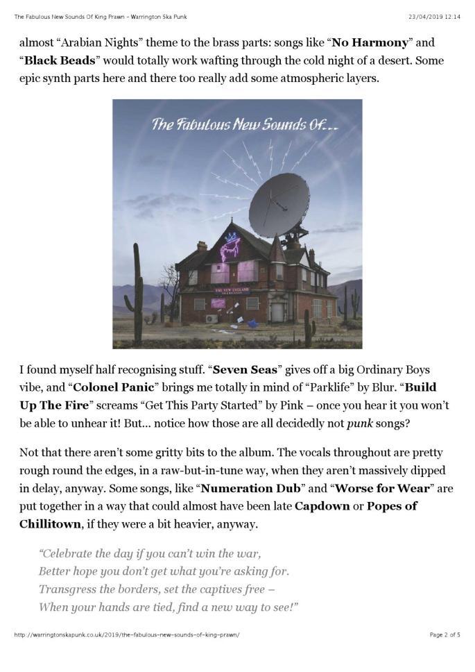 The Fabulous New Sounds Of King Prawn – Warrington Ska Punk (reader view)_000002